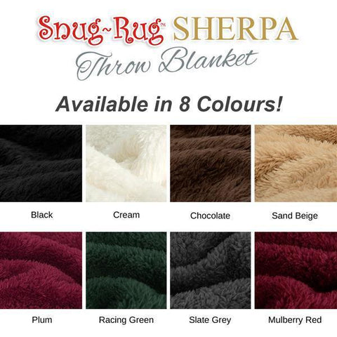 Image of Snug-Rug Sherpa Throw Blanket - Cream-Universal Store London™