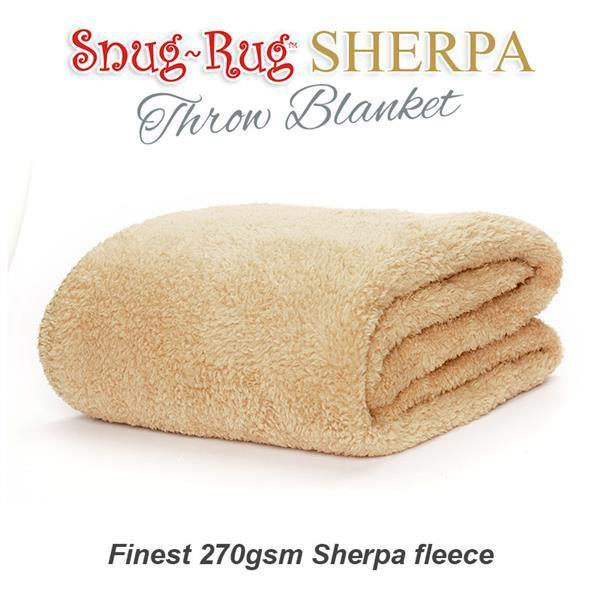 Snug-Rug Sherpa Throw Blanket - Sand Beige-Universal Store London™
