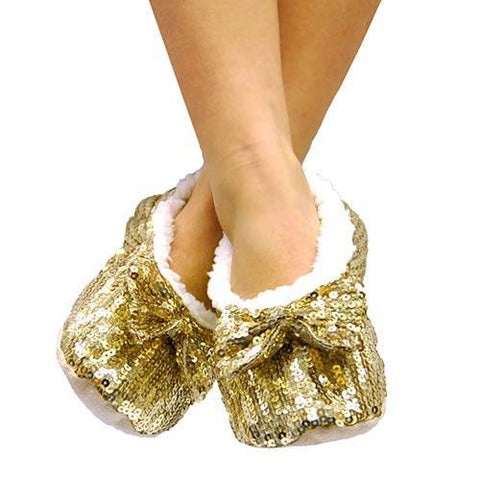 Soft Ballerina Shoes with Sequins-Universal Store London™