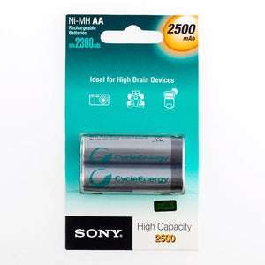 Sony Ni-MH AA 2500 mA 1.2V Rechargeable Batteries (pack of 2)-Universal Store London™