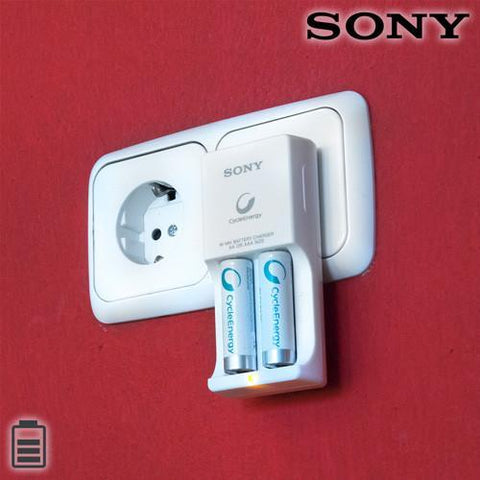 Image of Sony Ni-MHAA/AAA 1000 mAh Battery Charger-Universal Store London™