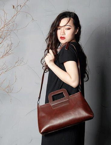 Sophie Handmade Full Grain Leather Handbag-Universal Store London™