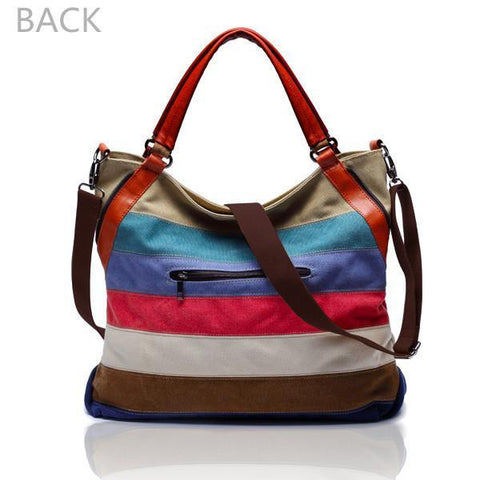 Image of 'Sorrento' Canvas Hobo Crossbody Bag Shoulder Bag-Universal Store London™