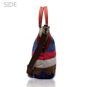 'Sorrento' Canvas Hobo Crossbody Bag Shoulder Bag-Universal Store London™