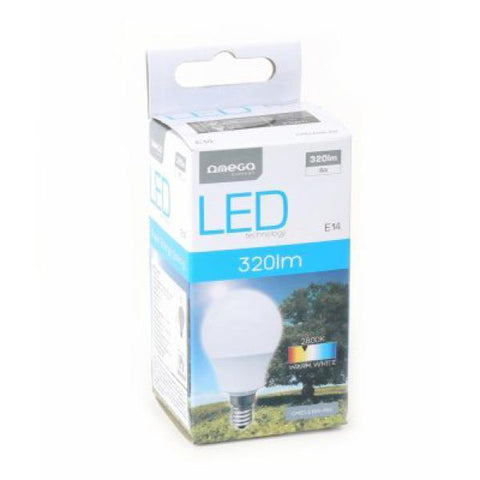Spherical LED Light Bulb Omega E14 4W 320 lm 2800 K Warm light-Universal Store London™