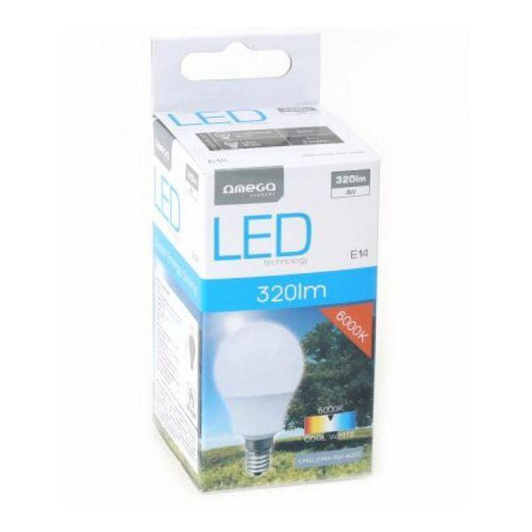Spherical LED Light Bulb Omega E14 4W 320 lm 6000 K White light-Universal Store London™