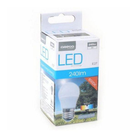 Spherical LED Light Bulb Omega E27 3W 240 lm 6000 K White light-Universal Store London™