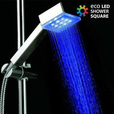 Squared Eco LED Light Shower Head-Universal Store London™