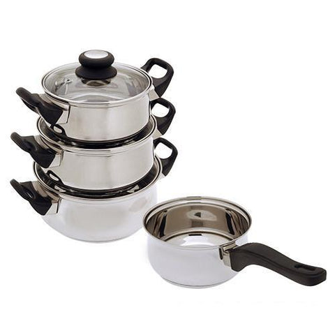 Image of Stainless Steel Cookware (7 pieces)-Universal Store London™