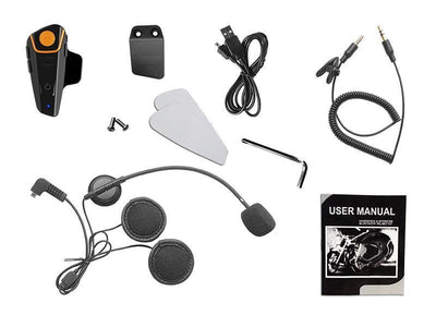 STEALTH® BT-S2 1000m Hands Free FM Waterproof Motorcycle Moto Helmet Intercom Headset-Universal Store London™