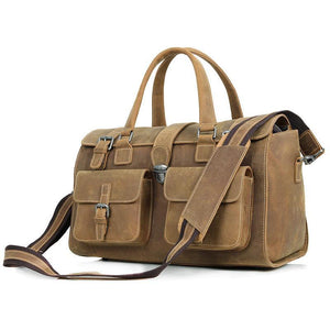 Stowaway Vintage Saddle Leather Weekender Bag Holdall Bag-Universal Store London™