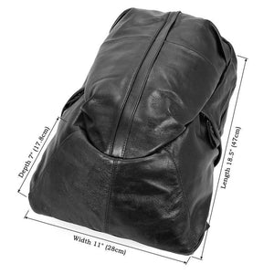 Street Smart Leather Backpack - Black-Universal Store London™