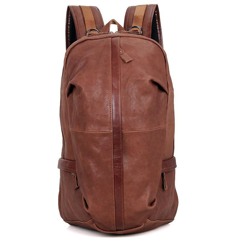 Street Smart Leather Backpack - Brown-Universal Store London™