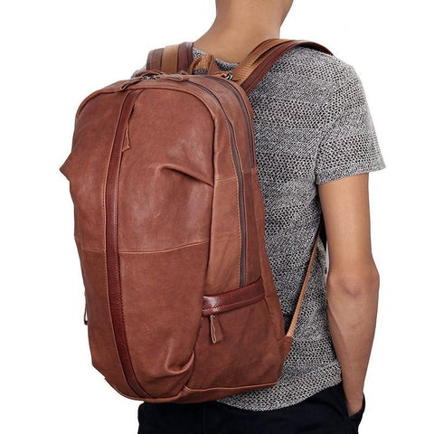 Image of Street Smart Leather Backpack - Brown-Universal Store London™