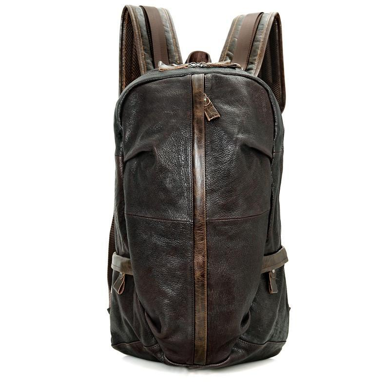 Street Smart Leather Backpack - Dark Brown-Universal Store London™