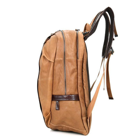 Image of Street Smart Leather Backpack - Light Brown-Universal Store London™