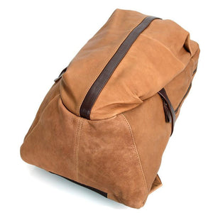 Street Smart Leather Backpack - Light Brown-Universal Store London™