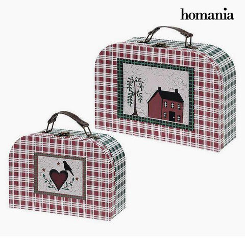 Suitcase set Homania 7840 (2 uds) Carboard-Universal Store London™