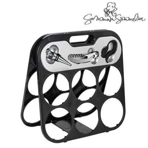 Image of Summum Sommelier Bottle Rack with Wine Accessories-Universal Store London™