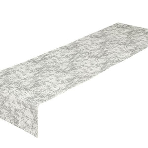Table Runner Silver (40 x 13 x 0,05 cm) by Loom In Bloom