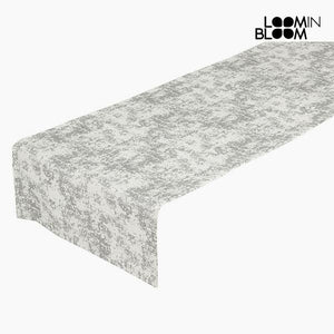 Table Runner Silver (40 x 13 x 0,05 cm) by Loom In Bloom-Universal Store London™