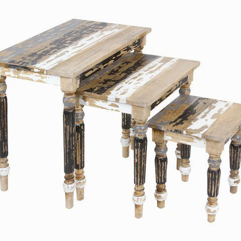 Image of Table set of three - Poetic Collection by Craften Wood-Universal Store London™
