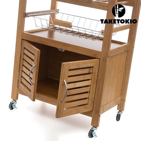 Image of TakeTokio Bamboo Kitchen Trolley-Universal Store London™