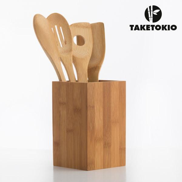 TakeTokio Bamboo Kitchen Utensils (5 pieces)-Universal Store London™