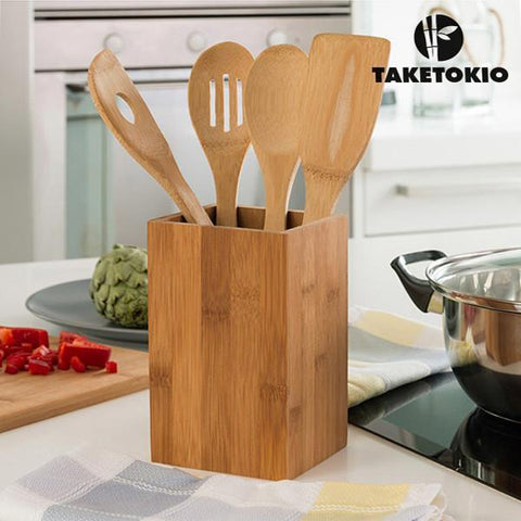 Image of TakeTokio Bamboo Kitchen Utensils (5 pieces)-Universal Store London™