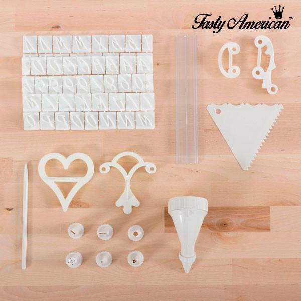 Tasty American Cake Decoration Kit (100 pieces)-Universal Store London™