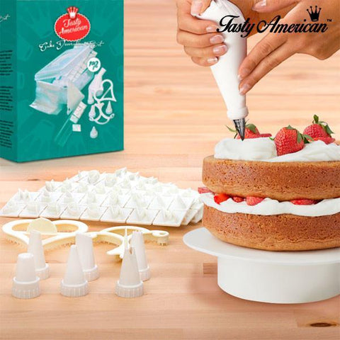 Image of Tasty American Cake Decoration Kit (100 pieces)-Universal Store London™