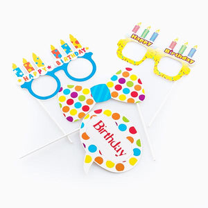 Th3 Party Birthday Accessories for Fun Photos (Set of 5)