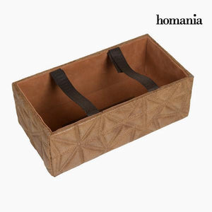 Tissue box engraved brown by Homania