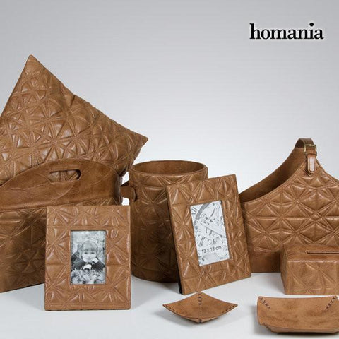 Tissue box engraved brown by Homania-Universal Store London™
