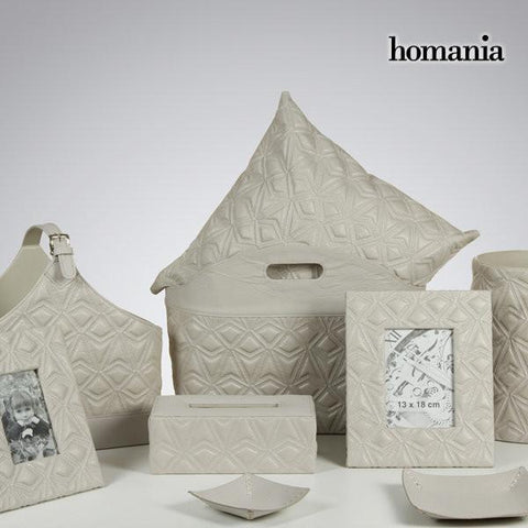 Tissue box engraved gray by Homania-Universal Store London™