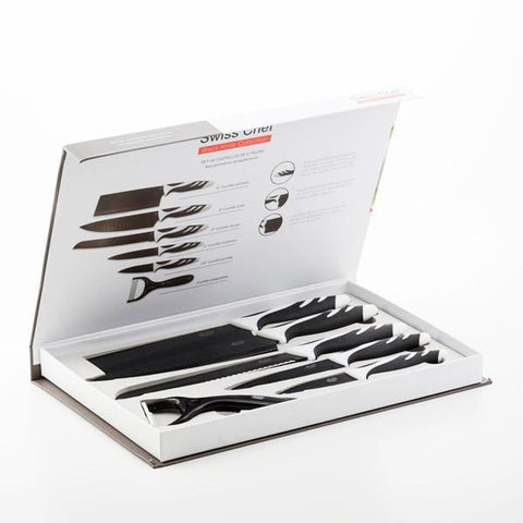 Top Chef Black C01024 Knives (6 pieces)-Universal Store London™