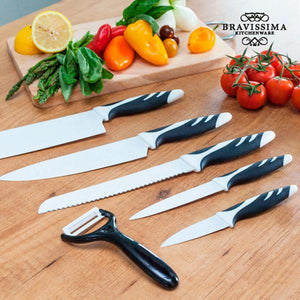 Top Chef White C01023 Knives (6 pieces)-Universal Store London™
