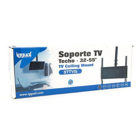 "TV Ceiling Support iggual STTV01 IGG314524 32""-55"" Black-Universal Store London™"