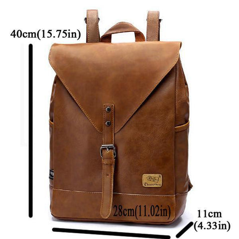 Image of Unisex PU Leather Shoulder Bag Backpack-Universal Store London™