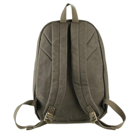 Image of Universal London Canvas and Leather Backpack - Army Green-Universal Store London™