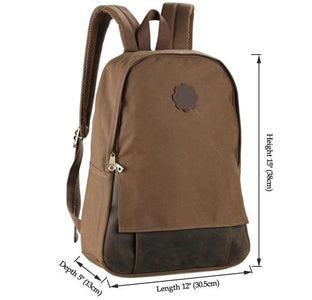 Universal London Canvas and Leather Backpack - Brown-Universal Store London™