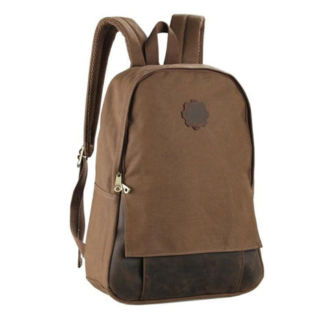 Image of Universal London Canvas and Leather Backpack - Brown-Universal Store London™