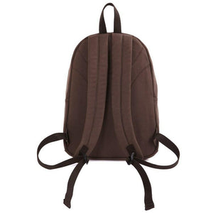 Universal London Canvas and Leather Backpack - Dark Brown-Universal Store London™
