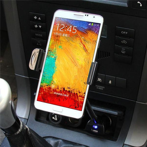 Image of Universal Mobile Phone Car Mount Holder With USB Charger-Universal Store London™
