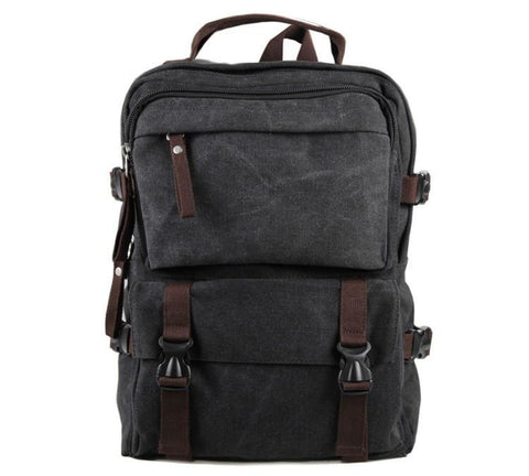 Image of Urban Commuter Canvas Laptop Backpack - Washed Black-Universal Store London™