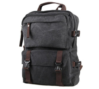 Urban Commuter Canvas Laptop Backpack - Washed Black-Universal Store London™