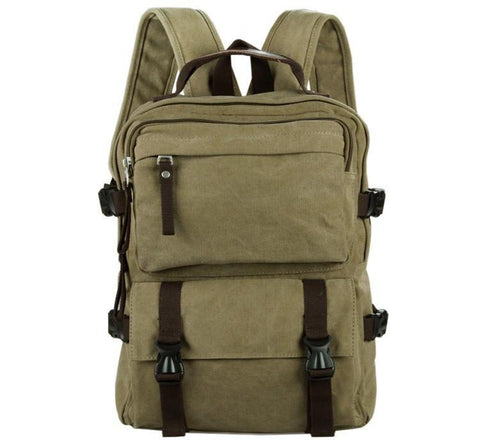 Image of Urban Commuter Canvas Laptop Backpack - Washed Green-Universal Store London™