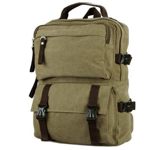 Urban Commuter Canvas Laptop Backpack - Washed Green-Universal Store London™