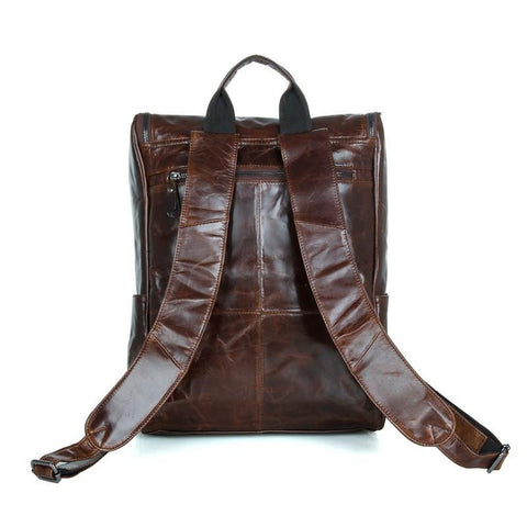 Image of Urban Spirit Leather Backpack - Brown-Universal Store London™