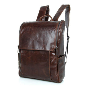 Urban Spirit Leather Backpack - Brown-Universal Store London™